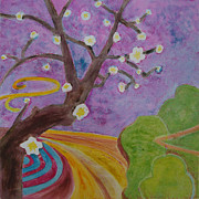 Featured Mixed Media Originals - Blossoms 6 by Karen Coggeshall