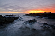 Sunset Seascape Prints - Bloubergstrand Sunset Print by Aaron S Bedell