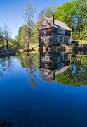 Historic Site Prints - Blow Me Down Mill Cornish New Hampshire Print by Edward Fielding