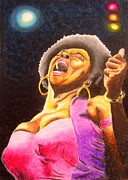 Singer Pastels Originals - Blow sister blow by Bill De Barber