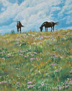 Prairie Sky Paintings - Blowin in the Wind by Anda Kett