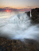 Florida Art - Blowing Rocks Sunrise Explosion by Mike  Dawson