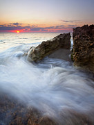 Waves Art - Blowing Rocks Sunrise by Mike  Dawson