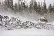 Blowing Snow Prints - Blowing Snow Print by Marc Crumpler