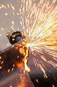 Alloy Posters - Blowtorch On Construction Site Poster by Fototrav Print