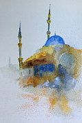 Gianni Raineri Prints - Blu Mosque Print by Gianni Raineri
