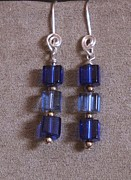 Gold Earrings Originals - BluCube  150 by Jan  Brieger-Scranton