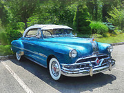 Car Framed Prints - Blue 1951 Pontiac Framed Print by Susan Savad