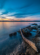 Seascape Photos - Blue Adriatic evening by Davorin Mance