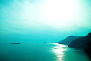 Landscape Photos - Blue Amalfi Sea by Susan  Schmitz
