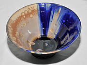 Background Ceramics - Blue and Brown Bowl by Neeltje Vos