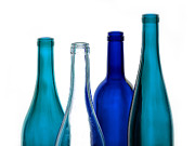 Wine Pour Posters - Blue and Clear Poster by Dennis James