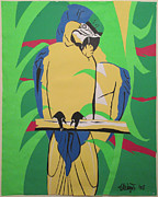 Macaw Mixed Media - Blue And Gold Macaw by Hal Weyant