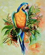 Blue And Gold Macaw Posters - Blue and Gold Macaw part2 Poster by  Ilona Anita Tigges - Goetze
