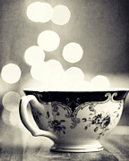 Dreamy Food Photography Prints - Blue and Gold Steamer in Black and White Print by Amelia Matarazzo