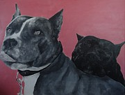 Staffordshire Paintings - Blue and her Mother by Crystal Hayes