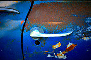 Junk Photos - Blue and Rusty Picking by Gwyn Newcombe