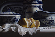 Lemon Painting Posters - BLUE and YELLOW no.2 Poster by Larry Preston