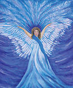 Open Mind Posters - Blue Angel Poster by Susan  Hea