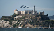 Alcatraz Prints - Blue Angels over Alcatraz Print by Mountain Dreams