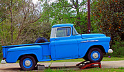 Apache Blue Framed Prints - Blue Apache pickup truck 02 Framed Print by Andy Lawless
