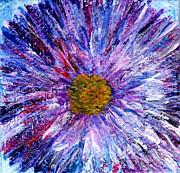 Regina Valluzzi - blue aster miniature painting