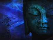 Statue Portrait Photo Posters - Blue Balance Poster by Joachim G Pinkawa