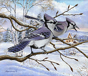 Richard De Wolfe Prints - Blue Bandits Winter Afternoon Print by Richard De Wolfe