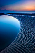 Horizon Digital Art Metal Prints - Blue Beach  Metal Print by Adrian Evans