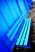 Blue Photos - Blue Benches by Mark Rogan