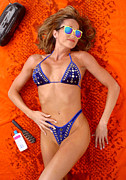 Swimsuit Photo Acrylic Prints - Blue Bikini 16-2P Acrylic Print by Gary Gingrich Galleries