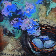Eggs Pastels - Blue Bird Nest by Susanne Osberg