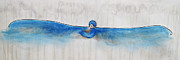 Carrie Jackson Paintings - Blue Bird Of Happiness by Carrie Jackson