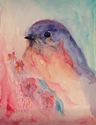 40s Paintings - Blue Bird by Paula Lay