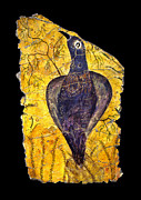 Roman Paintings - Blue Bird by Steve Bogdanoff