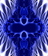 Void Digital Art - Blue Bliss by Bruce Stanfield