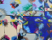 Kaleidoscopic Painting Originals - Blue Blossom Query by Sara Gardner