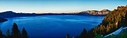 Crater Lake Twilight Framed Prints - Blue Blue Blue Framed Print by Rob Wilson