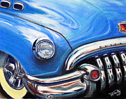 Muscle Pastels Framed Prints - Blue Blue Buick Framed Print by Michael Foltz