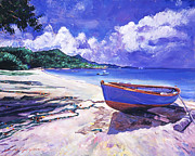 David Lloyd Glover - Blue Boat and Fishnets