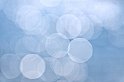 Circle Circles Prints - Blue bokeh background Print by Elena Elisseeva