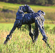 Horse Sculpture Prints - Blue Bolt Print by Valerie Freeman