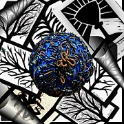 Black Tapestries - Textiles - Blue Boobie Paper Weight by Barbara St Jean