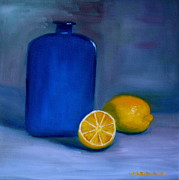 Jennifer Richards - Blue bottle and lemons