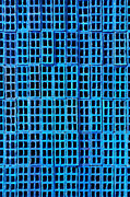 Cyan Prints - Blue Brick Wall Print by Carlos Caetano