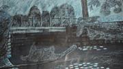 Blue Bridge At Dusk Print by Samara Doumnande