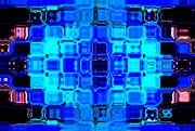 Glass Wall Digital Art - Blue Bubble Glass by Anita Lewis