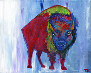 Fanciful Metal Prints - Blue Buffalo Metal Print by Tori Tunget