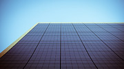 Thomas Richter Metal Prints - Blue Building Metal Print by Thomas Richter