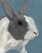 Bunny Paintings - Blue Bunny by Dana Feagin
